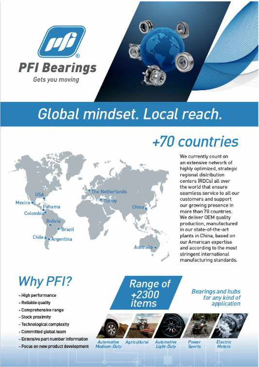 Cover PFI Bearings Quality Overview